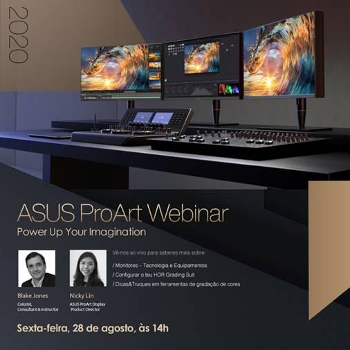 ASUS apresenta Webinar ProArt para profissionais  nas áreas de criação de conteúdos
