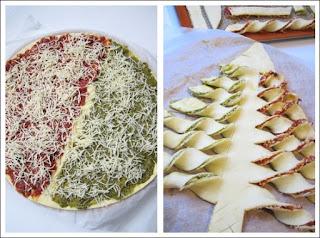 Sapin de Noël Au Pesto Rouge et Vert