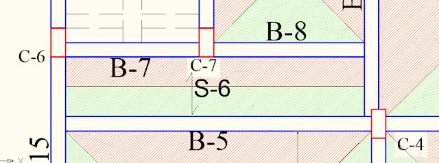 One way slab layout