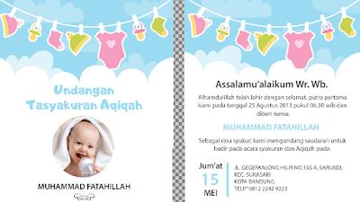 Download Themplate Undangan AQIQAH dan NIKAHAN, Keren dan Menarik