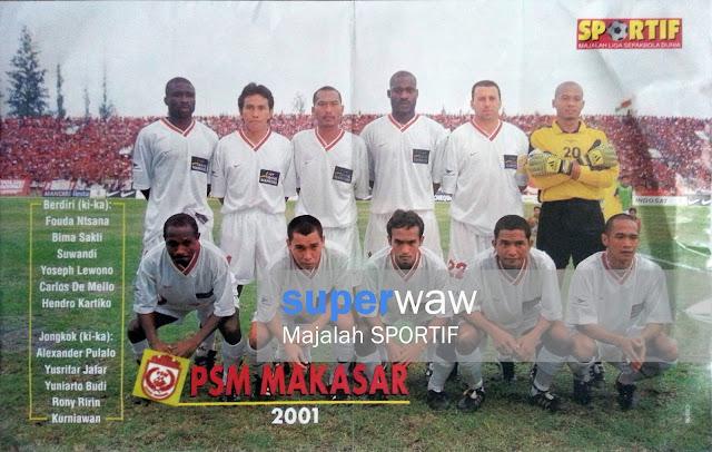 Poster Tim PSM Makasar 2001