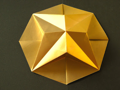 Origami Stella in ottagono 1 - Octagonal Star 1 by Francesco Guarnieri