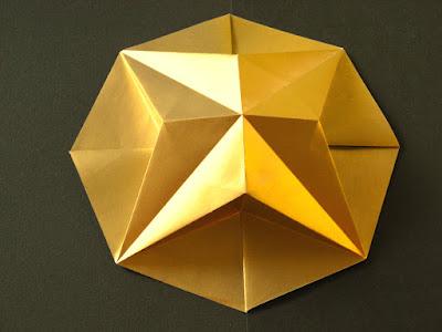 Origami Stella in ottagono 1 - Octagonal Star 1 by Francesco Guarnieri