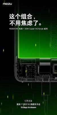 Meizu 17 Memiliki Layar dengan Refresh Rate 90Hz dan Dukungan Pengisian Cepat 30W