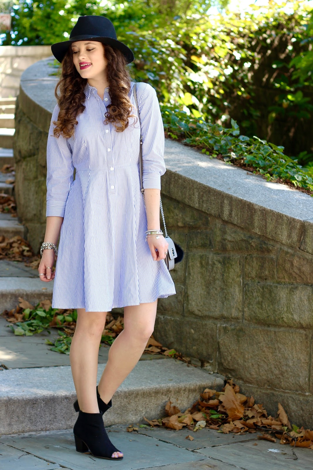 striped shirtdress fall