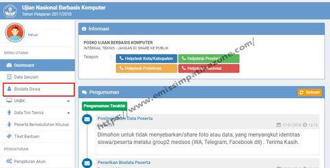 Cara Mengambil Biodata Peserta UN dari BIOUN ke Web UNBK
