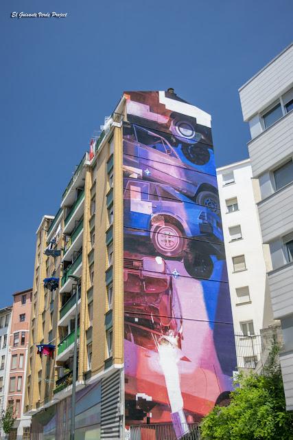 Mural Spindle por Zoer y Velvet - Bilbao, por El Guisante Verde Project