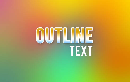 How-to-outline-text-in-adobe-photoshop