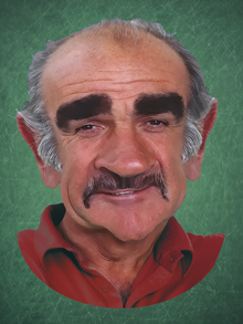 sean connery, connery, conery, sean, caricatura, caricature, cartoon