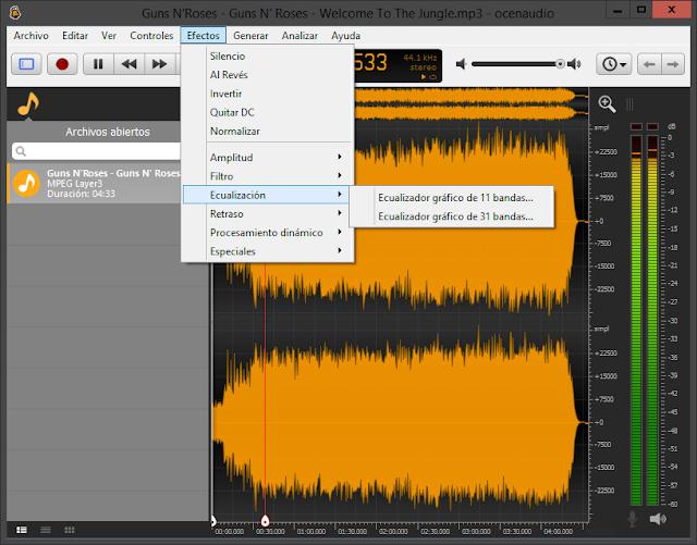 ocenaudio 3.7.15 - Editor de audio rápido y funcional disponible en español - Versión actualizada