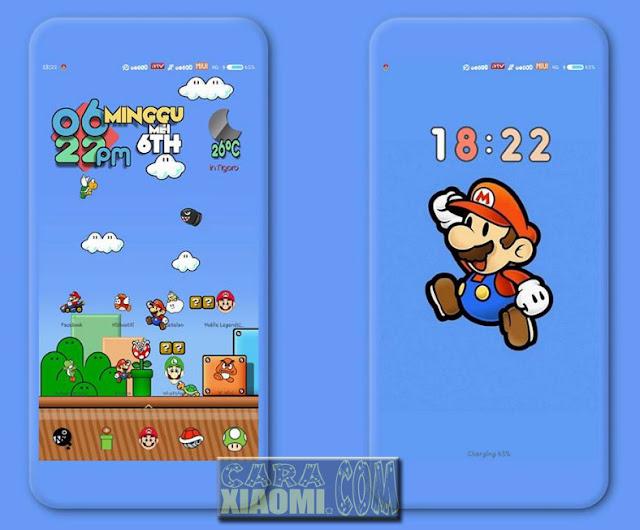 Tema MIUI Mario V2 Mtz For Xiaomi Redmi Terbaru [V9 Theme]