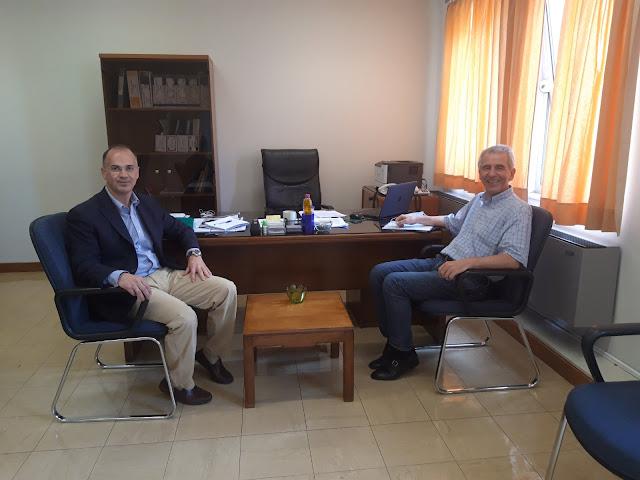 Γιάννενα: Συνάντηση Στ.Καλογιάννη, με τον νέο Διοικητή του Πανεπιστημιακού Νοσοκομείου