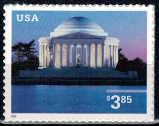 Jefferson Memorial Priority Stamp