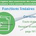 Correction - S'auto-évaluer Recopier et Compléter page 191 - Fonctions linéaires