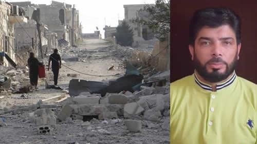 مازن شامی مدیر خبرگزاری قاسیون در غوطه شرقی دمشق