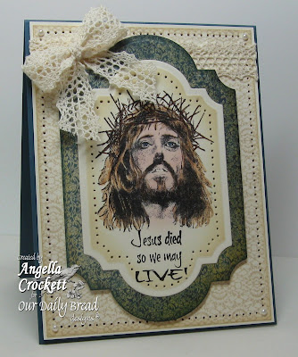 "Our Daily Bread designs ""Crown of Thorns"", ""Crocheted Background"" Designer Angie Crockett"