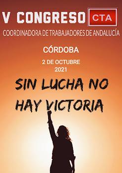 V Congreso de la Coordinadora de Trabajadores de Andalucía, 2 de octubre de 2021 en Córdoba.