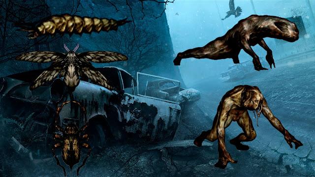Twinfeeler Aguijón Flotante Creeper Brincador Cabeza Divida Silent Hill