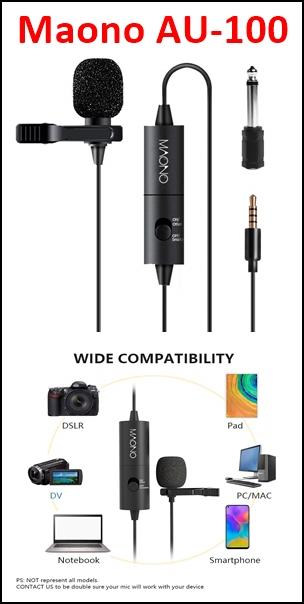 Maono-AU-100-Condenser-Clip-On-Lavalier-Microphone