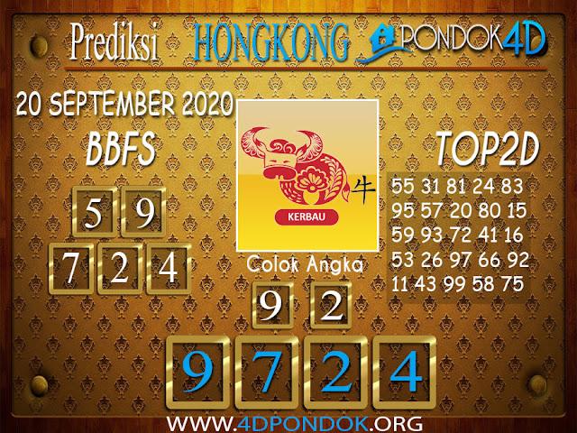 Prediksi Togel HONGKONG PONDOK4D 20 SEPTEMBER 2020