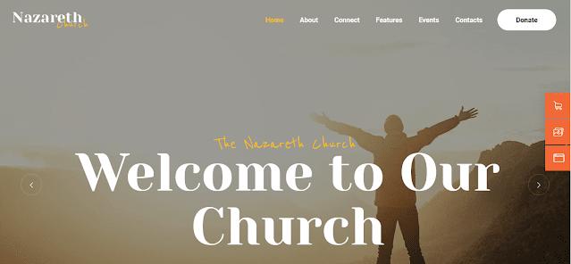 Best Nonprofit Church WordPress Themes With Donation System   Nazareth