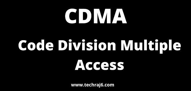 CDMA full form, What is the full form of CDMA