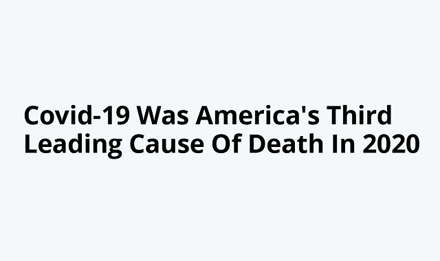 Covid-19 becomes the third leading cause of death in the USA