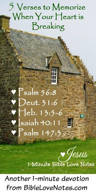 Jesus heals the broken hearted