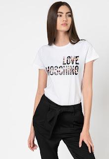 Love Moschino - Дамска бяла Тениска с лого