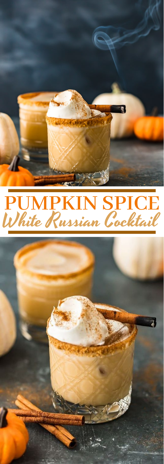 Pumpkin Spice White Russian Cocktail #cocktails #drinks
