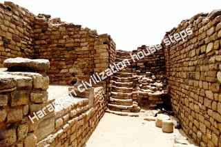 हङप्पा सभ्यता से प्राप्त सीढ़ी के अवशेष