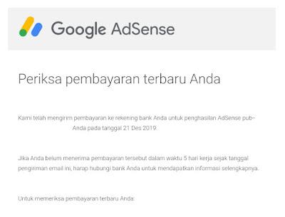 Jam Masuk Email Pembayaran Google Adsense