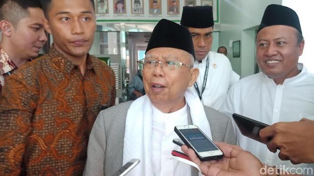 Dilarang KPU, Ma'ruf Amin Tegaskan Tetap Kampanye di Pesantren
