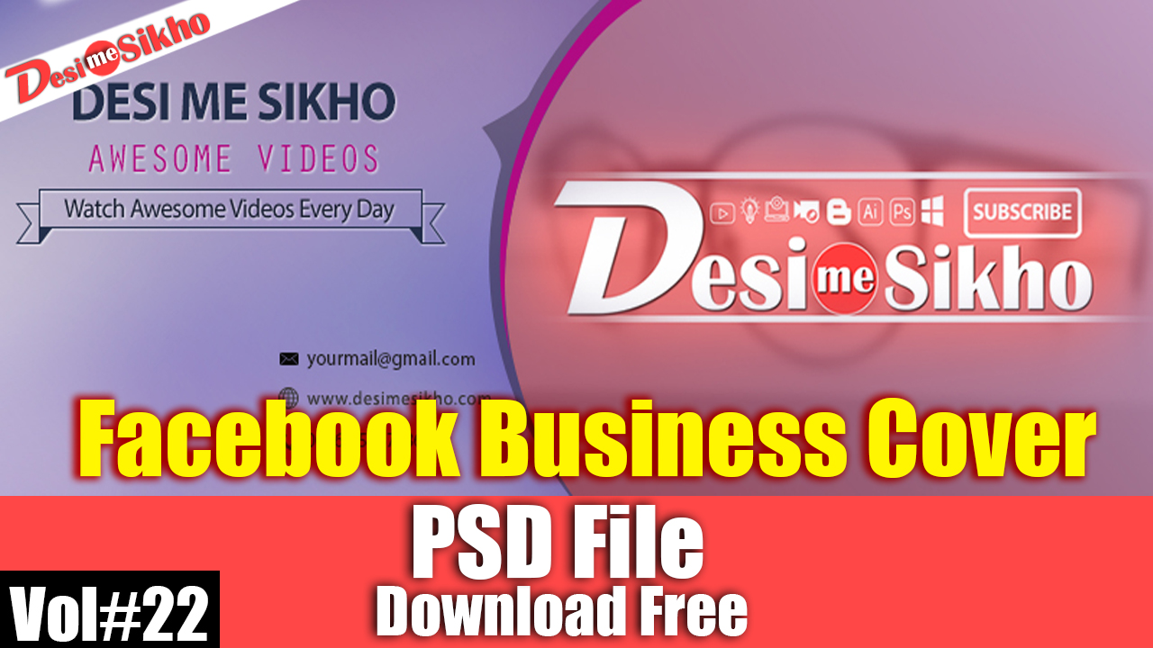 Facebook business cover psd template download free vol22 desi me in this post i will show you facebook business cover templates for photoshop and how to use facebook business cover templates accmission Image collections