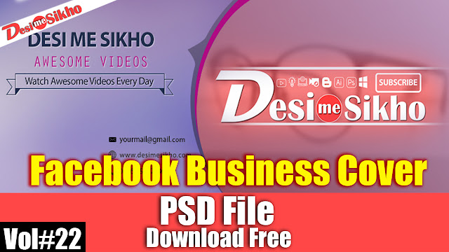 Facebook Business Cover PSD Template Download Free Vol#22