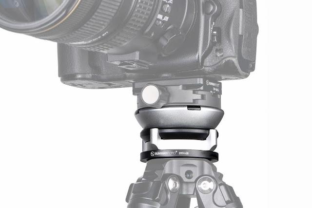 Sunwayfoto DYH-68 Leveling Base with camera
