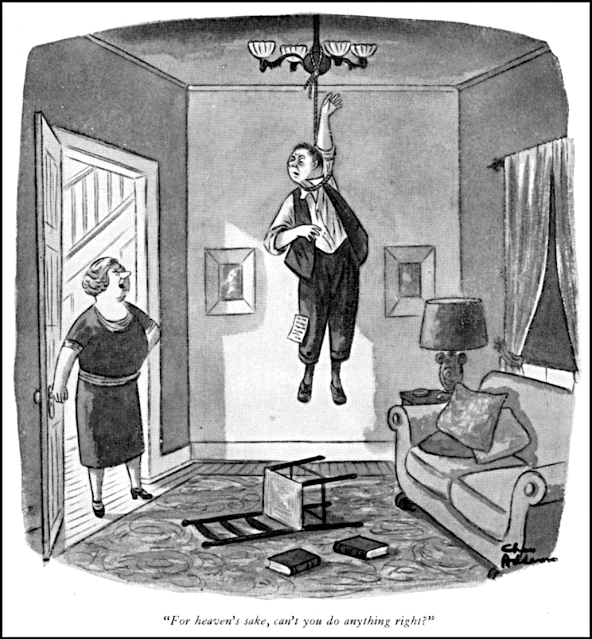 Charles Addams: For heaven's sake, can't you do anything right?