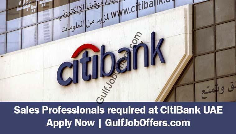 Sales Professionals required at CitiBank UAE وظائف اليوم ...