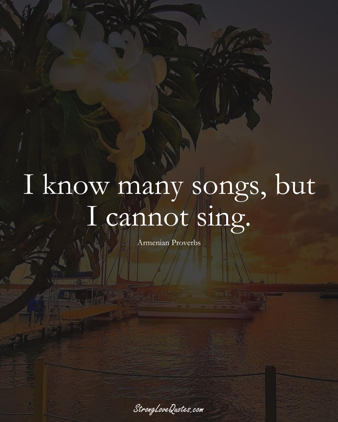 I know many songs, but I cannot sing. (Armenian Sayings);  #AsianSayings