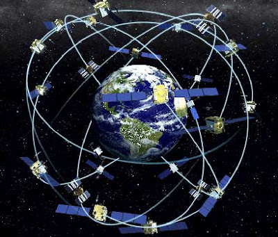 How many GPS satellites are orbiting the Earth?