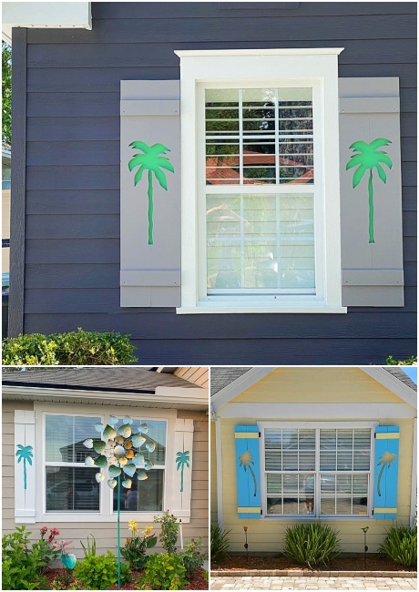 Exterior Palm Tree Shutters
