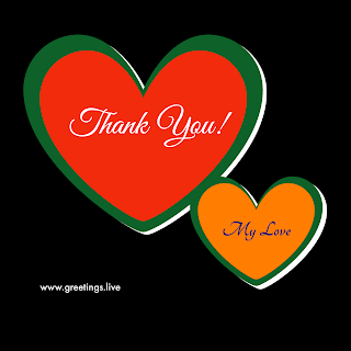 Thank you my love with sweet hearts