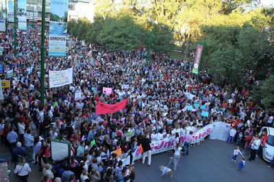Ni Una Menos: Latin America's women protest against violence towards women.