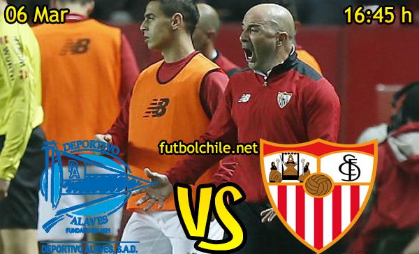 Ver stream hd youtube facebook movil android ios iphone table ipad windows mac linux resultado en vivo, online: Deportivo Alavés vs Sevilla
