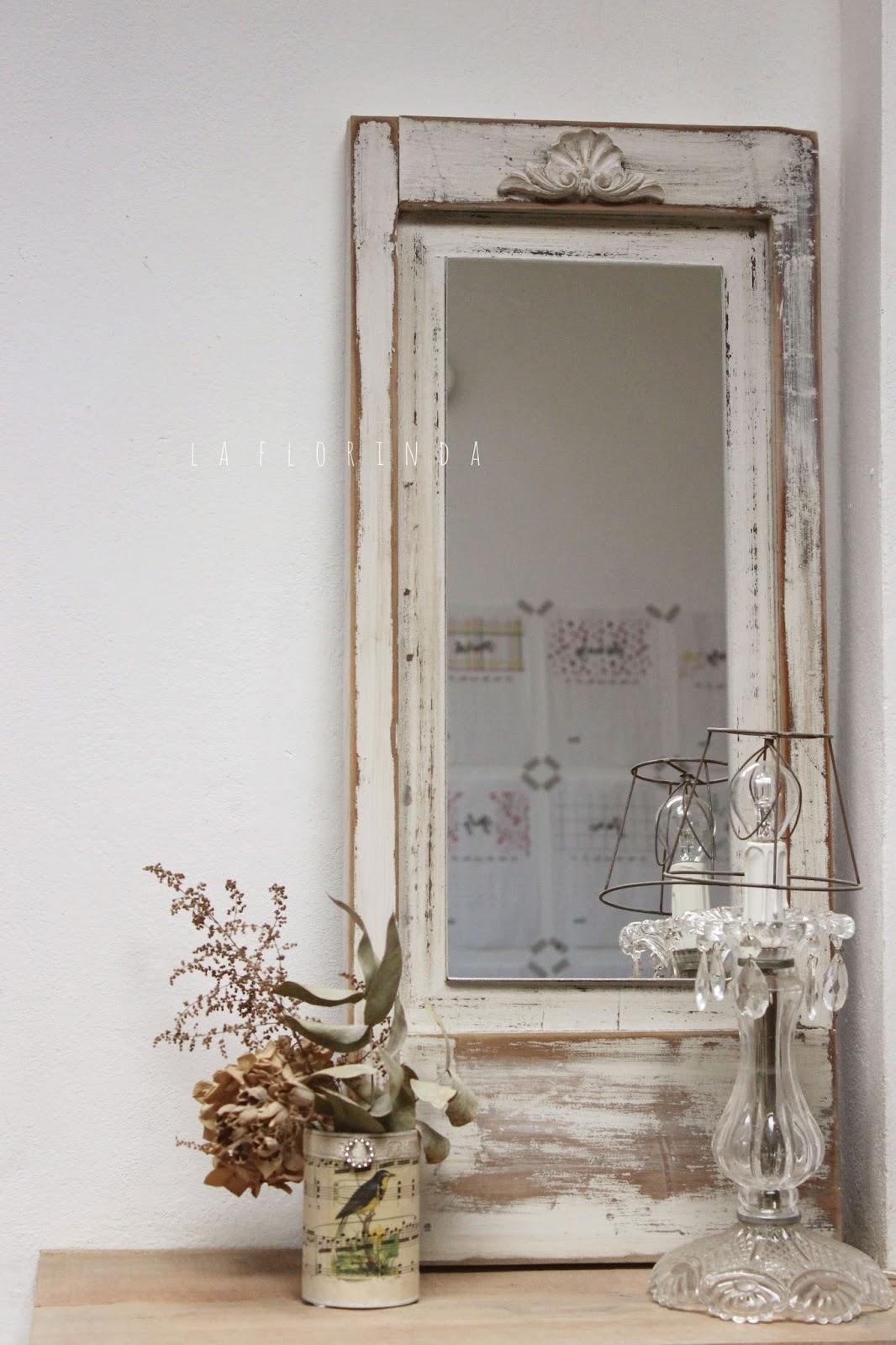 Tienda la florinda espejos estilo vintage for Espejos grandes de pared vintage