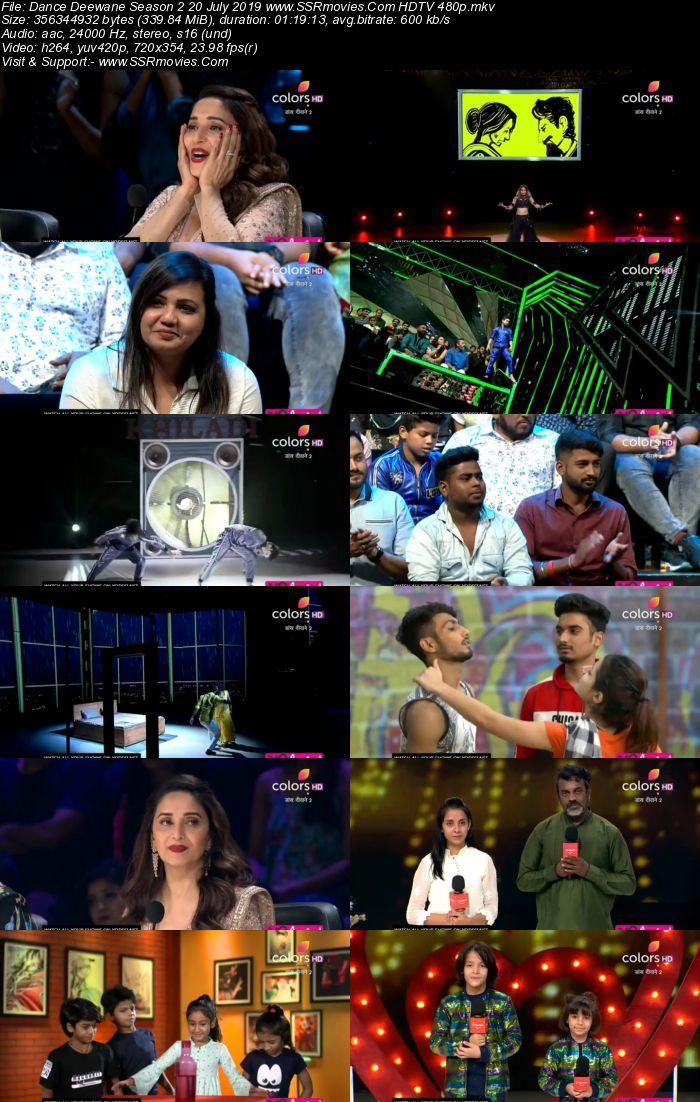 Dance Deewane Season 2 20 July 2019 HDTV 480p Full Show Download