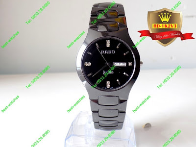 Đồng hồ đeo tay nam mặt tròn dây đá ceramic RD 1K2V3