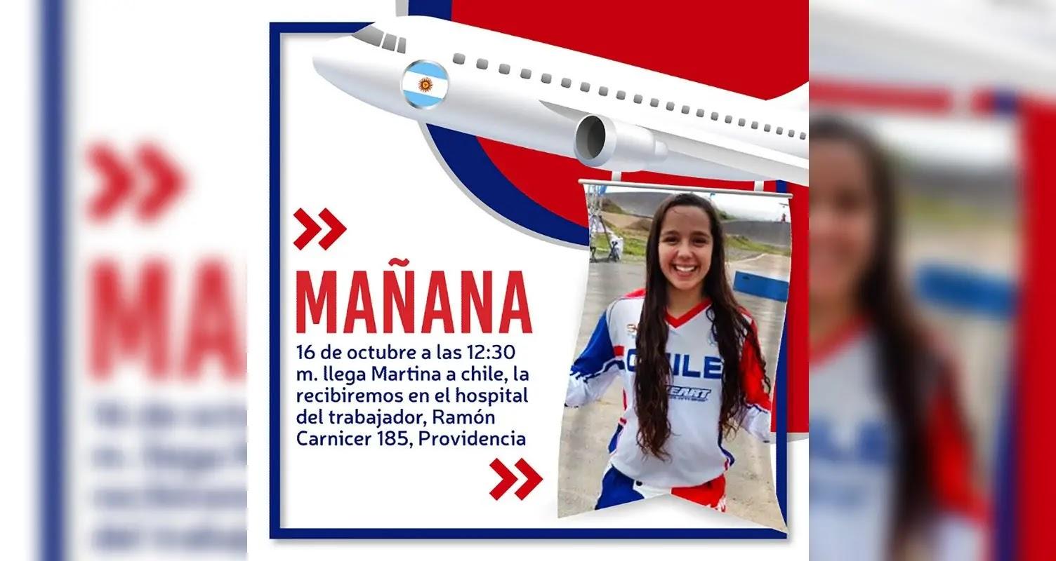 Martina Timis vuelve a Chile