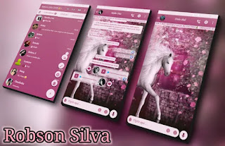 Pink Unicorn Theme For GBWhatsApp By Robson
