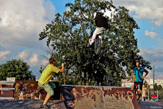 Shooting a Bike Stunts Video in Skate Park Brasov